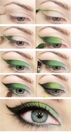 A green make up look!