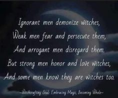 dating a male witch