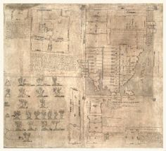 Aztec map of the Oztoticpac lands of Texcoco- circa 1504