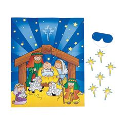 Pin The Star On The Nativity Game - OrientalTrading.com