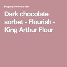 Dark chocolate sorbet - Flourish - King Arthur Flour