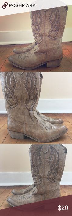 American Eagle Cowboy Boots Brand new NEVER worn American Eagle boots! $20 :) American Eagle Outfitters Shoes Heeled Boots