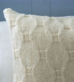 Cobblestone Knit Pillow Cover   If this hand-knit pillow cover looks supremely comfy and cozy,...   Throw Pillows