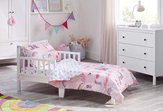 New Bloomsbury Mill - 4 Piece Toddler Comforter Set - Magic Unicorn, Fairy Princess & Enchanted Castle - Pink - Kids Bedding Set online shopping - Melyssanicefashion