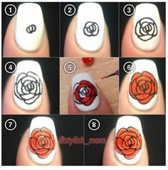 Nail art flower tutorial