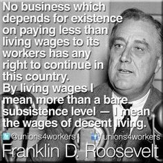 Living wage _ga- as defined by a rich white man, nonetheless. Stop the hatred and stereotyping.