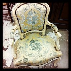 antique #chair #floral