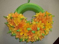 kusudama flower wreath