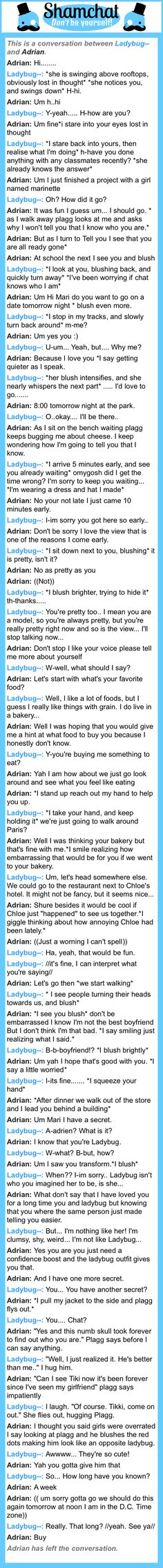 A conversation between Adrian and Ladybug--