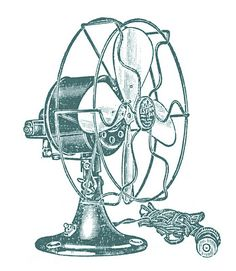 Vintage Clip Art – Electric Fans – Steampunk