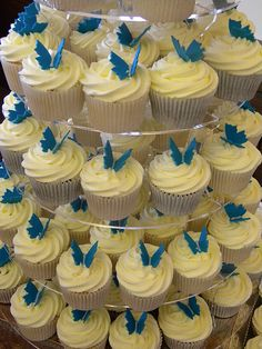Teal Butterfly Theme Wedding Cupcakes by Truly_Scrumptious, via Flickr