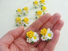 Plant Earrings Wedding Jewelry Bride Earrings. Bridesmaid