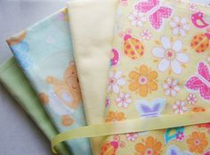 4 Receiving Blankets for Baby Boy or Girl by FindUrHappyPlace, $30.00