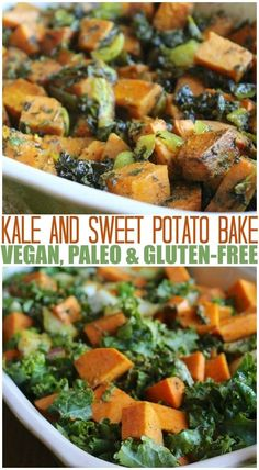 This 3-ingredient Kale & Sweet Potato dish can be served as a side or main dish option. Everyone loves it because of the hearty and delicious sweet potatoes. via @cleaneatingkitchen