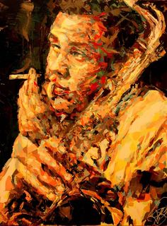Figurative painter Henri Lamy (French: 1985)  | Guess who this jazzman is