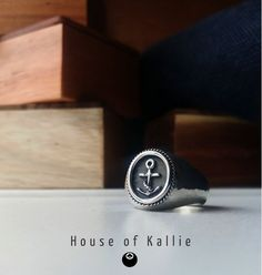 Hand Made from Sterling Silver and finished with a hammered texture. Each ring is made to fit the wearer and is available in all sizes. Signet Ring, Class Ring, It Is Finished, Sterling Silver, Rings, Handmade, House, Posters, Texture