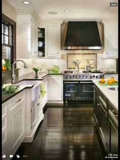 black & white kitchen would also look just as sophisticated in taupe & black