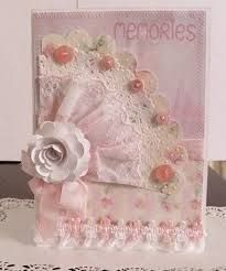 Image result for handmade vintage shabby chic green accordion card