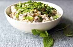 This dish is a creamy and mild eggplant salad made with a quick dressing of yogurt and seasonings. You can grill the eggplant half an hour before you serve the salad, or a half a day (or longer) ahead; it doesn't matter much at all. (Photo: Suzy Allman for The New York Times)