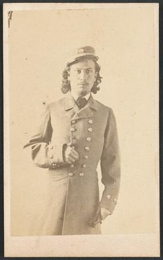 Confederate Sailor Midshipman and Acting Master's Mate Francis Bartow Beville (also known as Frank, with surname spelled at times as Boville or Bevill) of the C.S.S. Atlanta, Confederate Navy, in uniform. Formerly served in Co. H, 8th Georgia Infantry...