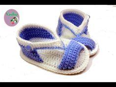 Tutorial Sandalias Bebé Crochet o Ganchillo - YouTube