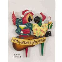 Christmas Parrots Sign - Really cute!