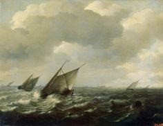 Sailing Vessels in a Strong Wind 1660; Hendrick Maertensz Sorgh Museo del Hermitage
