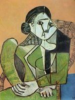 Pablo Picasso. Françoise assise dans un fauteuil. 1953