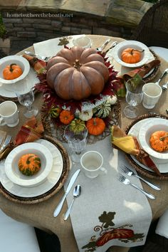 Pumpkins and Pfaltzgraff Delaney Dinnerware