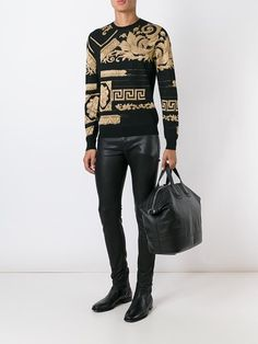VERSACE Embroidered Pixellated Baroque Sweater. #versace #cloth #sweater