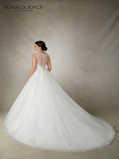 Ronald Joyce Alicia, a striking ball gown with beaded detailing and illusion back #RonaldJoyce #Wedding #Dress #Devon #Cornwall #Plymouth #Exeter #PrudenceGowns #DressingYourDreams