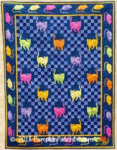 Mouse Hunt Crib Quilt PPP013-EIN