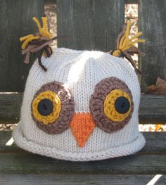 Cutest owl hat.  Many more cool hats besides the owl, and the baby modeling the hat is pretty cute ;)