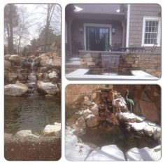 Waterfall created by American Aquascapes in Graham NC. #WaterfallWednesday