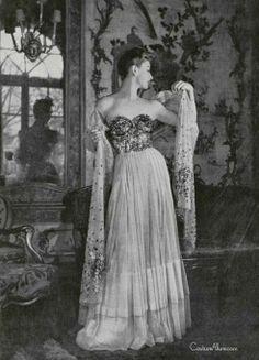Jean Patou, 1947 Couture Allure Vintage Fashion