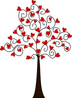 Beyond the Fringe: Free Heart Tree Digi's