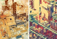 atelier olschinsky. cities have an odd beauty about them, captured well in these images.