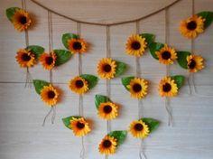 Sunflower Wedding Decor Sunflower Garland by foryourrusticwedding