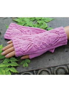 Heart of Mine Fingerless Gloves Knit Pattern ~ intermediate level ~ make a statement and keep your hands warm ~ KNIT ~ fits women size S, M, L
