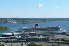 Queen Mary 2, docked in Halifax
