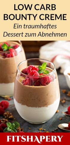 A delicious low carb bounty cream that helps you lose weight and muscle. - A delicious low carb bounty cream, which is suitable for losing weight and for building muscle. Low Carb Desserts, Low Carb Recipes, Diet Recipes, Diet Desserts, Supper Recipes, Entree Recipes, Brunch Recipes, Pasta Recipes, Chicken Recipes