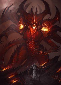 Diablo Sketch by Earl-Graey Dark Fantasy Art, Fantasy Artwork, Fantasy Demon, Fantasy Beasts, Fantasy Monster, Monster Art, Dark Art, Mythical Creatures Art, Fantasy Creatures