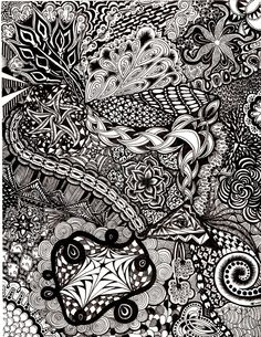 Zentangle Explosion by TheLonelyMaiden on deviantART