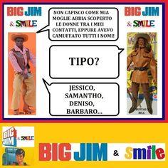 Big Jim & Smile: Donne in rubrica - Big Jack & Buffalo Bill Big Jim, Video, Memes, Lol, Smile, Baseball Cards, Comics, Funny, Sports