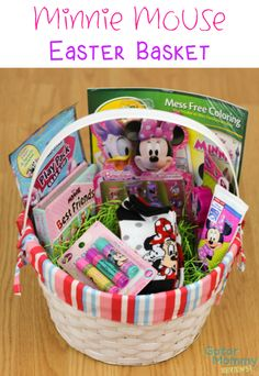 Minnie mouse easter basket by vyjcreations on etsy 2500 little girls would be thrilled to receive a disney minnie mouse easter basket sugar negle Image collections