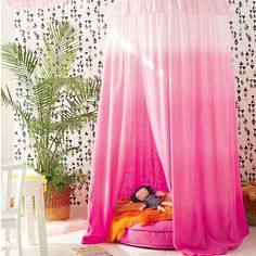 Pink Ombre Hanging Play Home Canopy  sc 1 st  Pinterest & Colorful Canopies for Kids! (New York Interior Design Blog ...