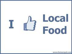 I like local food.
