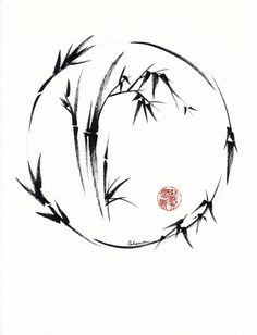 Original enso sumi-e ink brush pen painting by Rebecca Rees Excited to share this item from my shop: Aureole - Radiant Circle. Original enso sumi-e ink brush pen painting by Rebecca Rees Japanese Tattoo Art, Japanese Art, Japanese Sleeve, Chinese Painting, Chinese Art, Japanese Painting, Arte Ninja, Bamboo Tattoo, Bamboo Art
