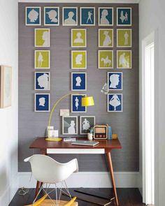 Framed Silhouette Family Tree