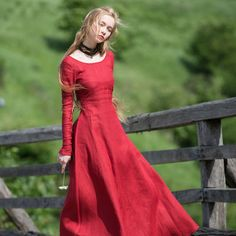 """Medieval Dress Tunic """"Red Elise"""""""